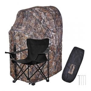 AW 1 Man Fold Chair Ground Deer Hunting Blind - Durable steel wireframe