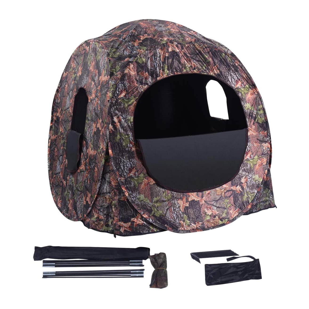 GYMAX Hunting Tent - Offers Large Capacity