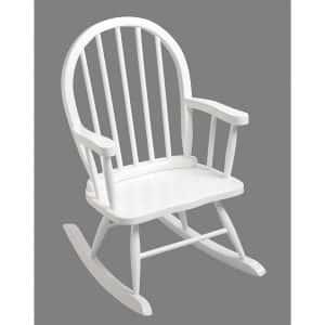 GiftMark Windsor White Rocking Chair for Children