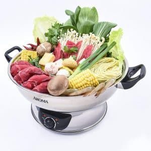 Aroma Electric Stainless Steel Silver Hot Pot