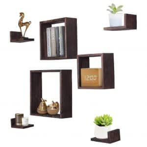 Comfify Rustic Wall Mounted Square Shaped Floating Shelve