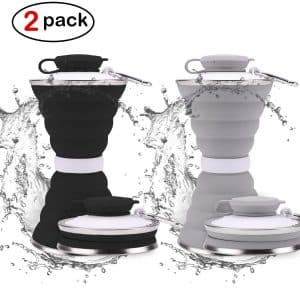 DARUNAXY Collapsible Foldable Water Bottle