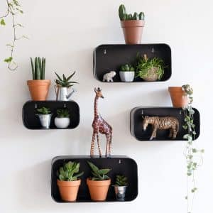 Kimisty Set of 3 Metal Floating Shelves