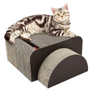 Pawaboo Cat Scratcher Lounge Bed