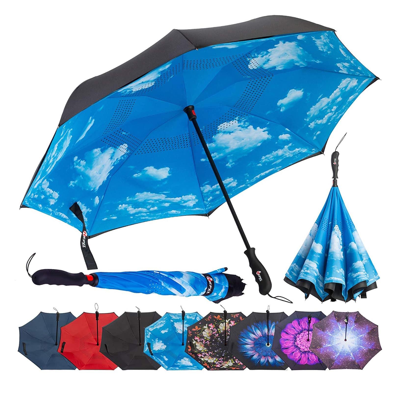 Repel Inverted Dual Layer Umbrella