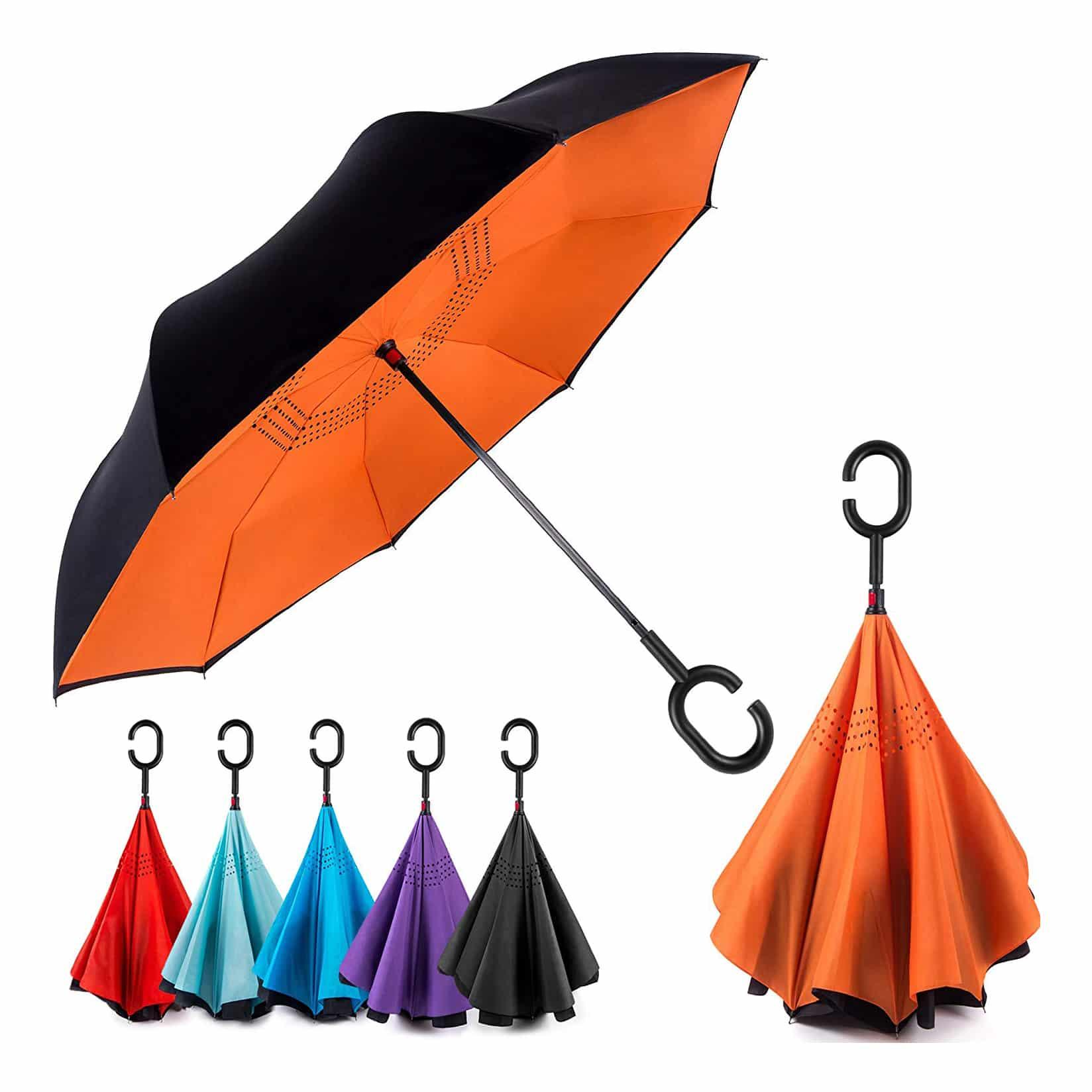 EEZ-Y Inverted Windproof Upside Down Umbrella