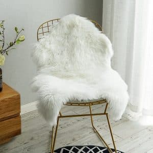 Carvapet Luxury Soft Faux Sheepskin Chair Cover