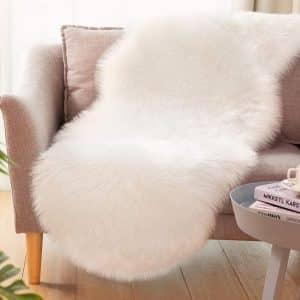 CIICOOL Ultra-Soft Faux Sheepskin Fur Rug 2 x 6Ft Rug