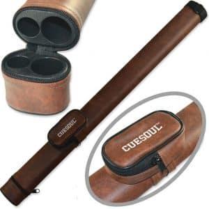 CUESOUL 1x1 Hard Pool Cue Billiard Stick Carrying