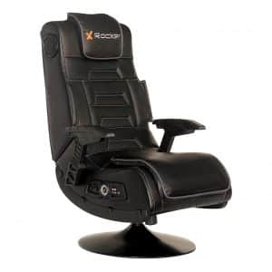 X Rocker Pro Series 2.1 Black Leather Video Gaming Chair