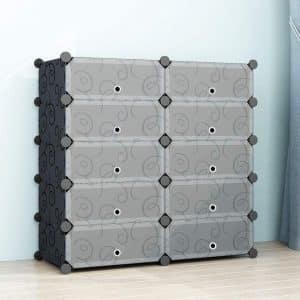 SIMPDIY Shoe Rack Shoe Box Storage System