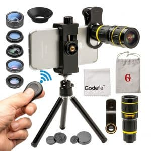 Godefa Cell Phone Clip-on Camera Lens for Samsung, iPhone