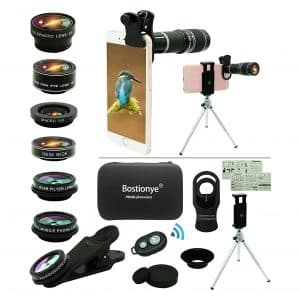 Bostionye Cell Phone 11 in 1 Camera Lens Kit for Most Smartphone (Black)