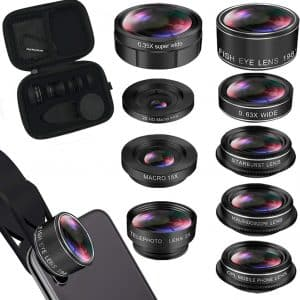 KEYWING 9-in-1 iPhone Lens Kit for Smartphone, Andriod, Samsung