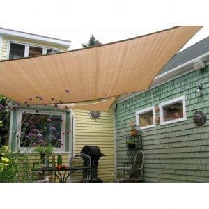 Shade&Beyond Rectangle Sun Shade Sails for Backyard