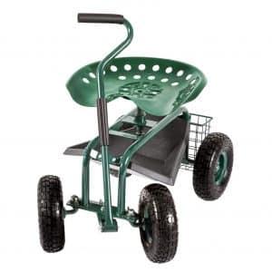 Kinsunny Garden Stool Cart