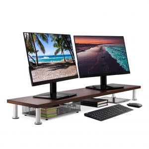 Large Dual Monitor Stand for Computer Screens