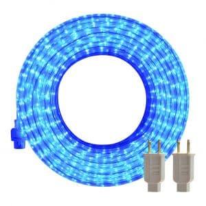 SURNIE 50ft Blue LED Strip Lights