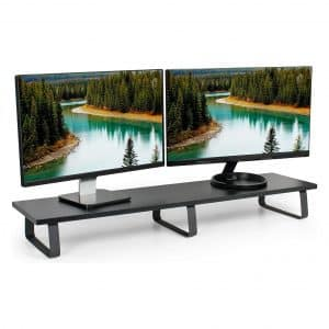 VIVO Black 39 inch Extra Long Monitor Riser