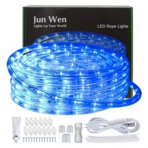 JUNWEN 40FT/12M Blue Led Strip Lights