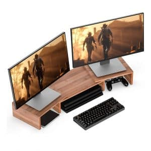 Well Weng Dual Monitor Riser