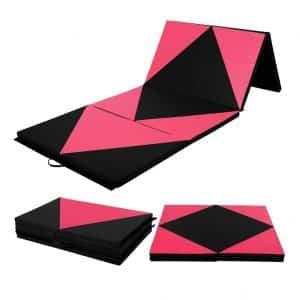 Pittayadomeshop Thick Folding PU Panel Gymnastic Mat
