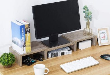 dual monitor stand riser