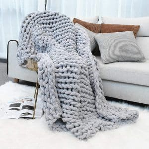 Inshere Luxury Chunky Knit Throw Blanket