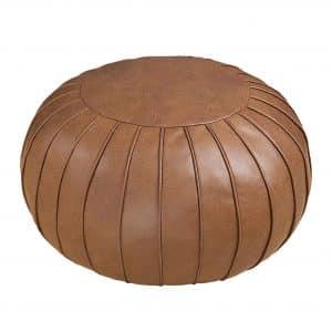 Thgonwid Handmade Suede Pouf Footstool Ottoman