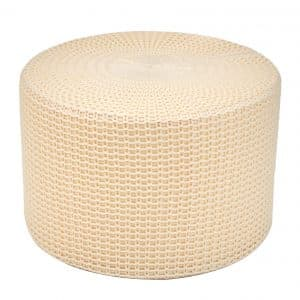 AmazonBasics Knit Foam Floor Pouf Ottoman