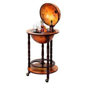 Wood Globe Wine Bar
