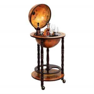 Weiwei Multigot Wood Globe Wine Bar Stand