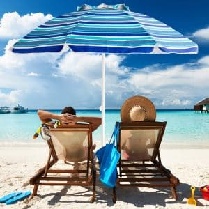 Aclumsy 7' Portable Beach Umbrella