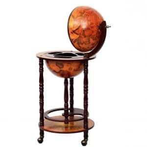 Shining Wood Globe Bar