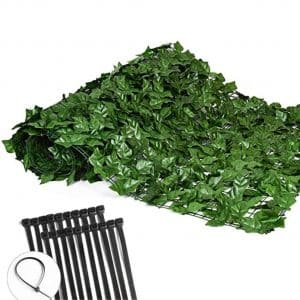 QTT Privacy Artificial Hedges Faux Ivy Vine Fence Screen