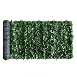 ColourTree 3' x 12' Artificial Hedges Faux Ivy Leaves Fence