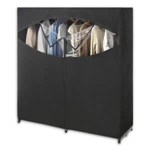Whitmor Black Wardrobe Closet & Clothes Storage
