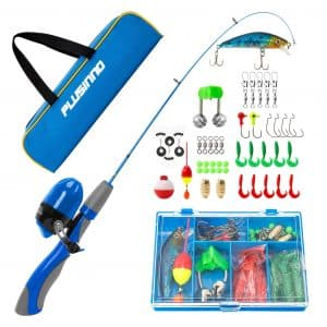 PLUSINNO Kids Fishing Pole Set