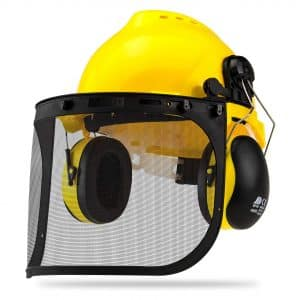 NEIKO 53880A 5-in-1 Face Shield Protection, Hearing Safety Helmet | Adjustable Size