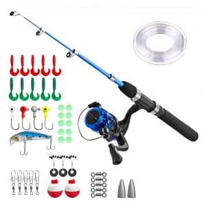 PLUSINNO Telescoping Kids Fishing Pole