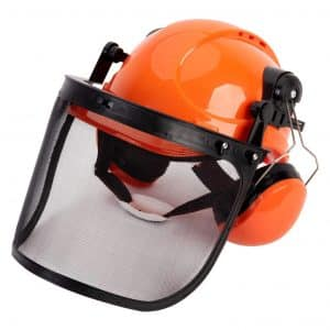 TODOCOPE Chainsaw Ear Muffs Safety Helmet, Mesh Face Shield