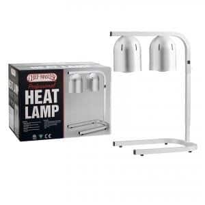 Chef Master 90050 2 Bulb Professional Freestanding Food Warmer Heat Lamp, Silver