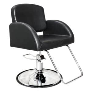 Chromium Salon Styling Chair for Beauty Professionals