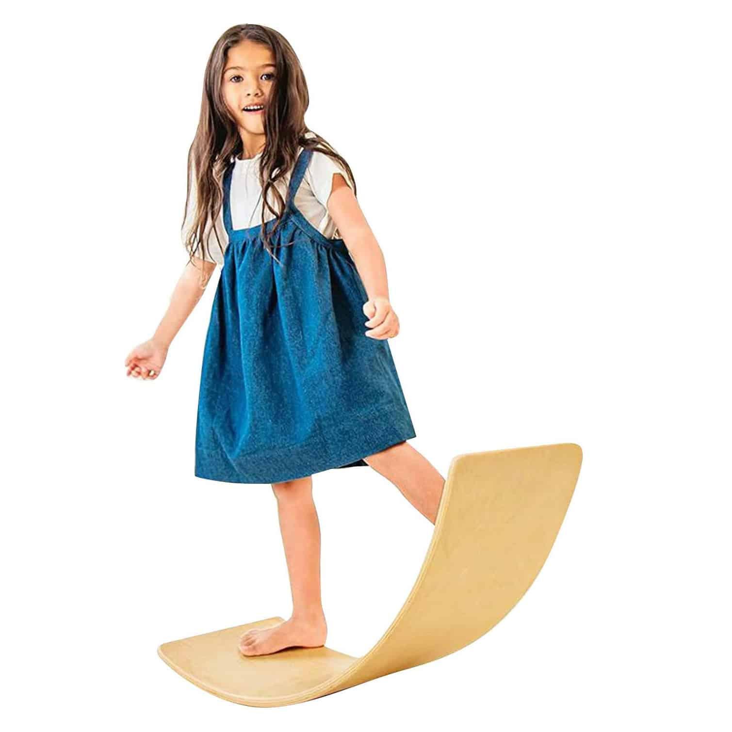 Avrsol Wooden Wobble Balance Board for Kids