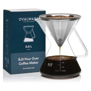 OVALWARE Pour Over Coffee Dripper Maker