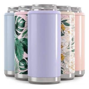 Maars Drinkware Skinny Can Cooler - Glitter Lilac