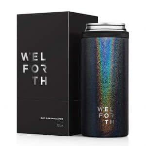 Welforth Slim Can Cooler (GLITTER BLACK)